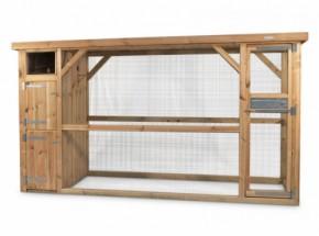 Volière Voldux R7 Geïmpregneerd hout 350x100x185cm