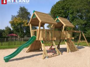 Hy-Land speeltoestel Q4S met schommelaanbouw