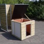 Nachthok Easy geïsoleerd - hondenhok voor in kennel met scharnierdak
