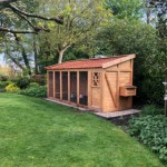 Voliere/kippenhok Flex 6.2 met legnest en dakpannen dak