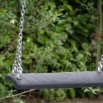 Professionele schommelzitjes van rubber, met gegalvaniseerd stalen schommelkettingen