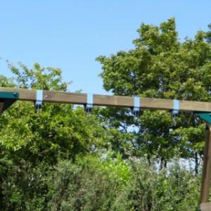 Stevige schommel met forse schommelbalk van 12x12x300cm!