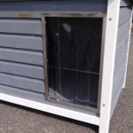 Hondenhok Dogsy Medium - grote opening met lamellen deur