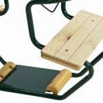 Metalen Duoschommel Club Groen - met PH-touw