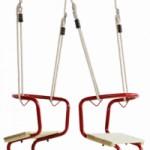 Metalen Duoschommel Club rood - met ph-touw