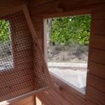 De gaaspanelen voor de ramen zijn afneembaar