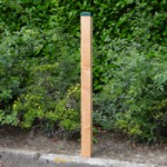 Afrasteringspaal Douglas voor zachte ondergrond - groen 200 cm