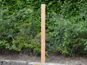 Afrasteringspaal Douglas voor zachte ondergrond - zwart 200 cm