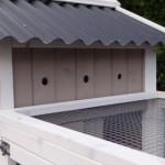 Konijnenhok Joas - ventilatieopening