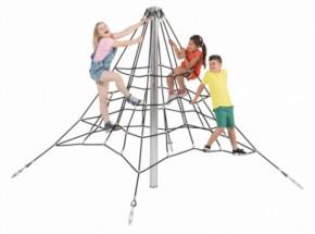 Piramide klimnet in gewapend touw 2,0m
