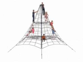 Klimnet Piramide in gewapend touw 5m