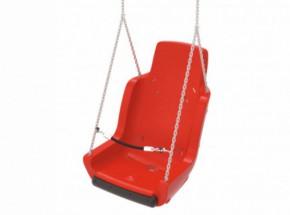 Kuipschommel voor personen met een handicap | Met ketting en veiligheidsketting Rood