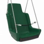 Kuipschommel voor personen met een handicap   Met ketting en veiligheidsketting Rood