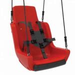 Kuipschommel voor personen met een handicap | Met touwen en veiligheidsgordel - Rood