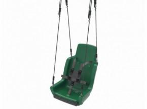 Kuipschommel voor personen met een handicap | Met touwen en veiligheidsgordel | Groen