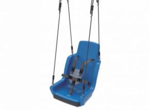 Kuipschommel voor personen met een handicap | Met touwen en veiligheidsgordel | Blauw