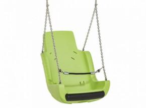 Kuipschommel voor personen met een handicap | Met ketting en veiligheidsketting | Limoengroen