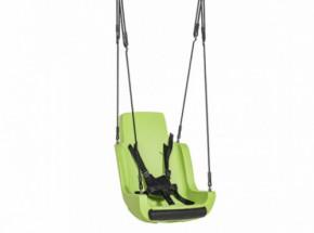 Kuipschommel voor personen met een handicap | Met touwen en veiligheidsgordel | Limoengroen