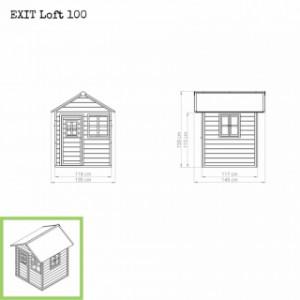 Speelhuisje EXIT Loft 100 - afmetingen