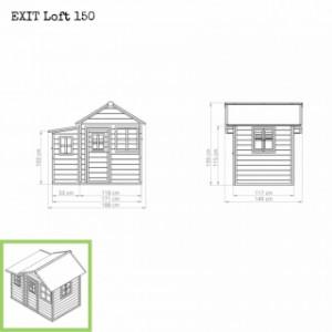 Speelhuis EXIT Loft 150 - afmetingen