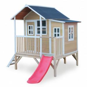 Speelhuis met glijbaan - EXIT Loft 350 naturel