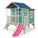 Speelhuis met glijbaan - EXIT Loft 350 groen