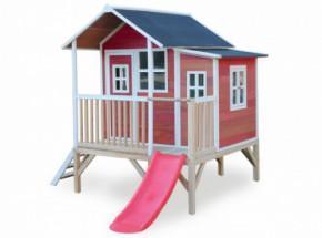 Speelhuis met glijbaan - EXIT Loft 350 rood