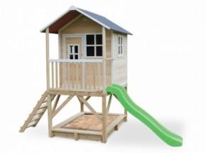 Speelhuis met glijbaan en zandbak - EXIT Loft 500 naturel