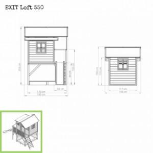 Speelhuis EXIT Loft 550 - afmetingen