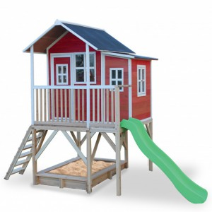 Speelhuis met glijbaan en zandbak - EXIT Loft 550