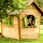 Houten speelhuis voor in de tuin | Alice | AXI