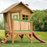 Speelhuis met glijbaan | Hout | Tuin