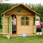 Speelhuis Milan - houten speelhuis voor in de tuin
