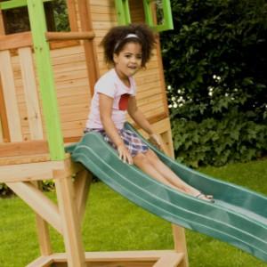 Speelhuis Sarah - houten speelhuis met glijbaan