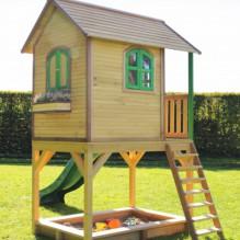 Speelhuis Sarah - houten speelhuis op poten