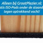 Alleen bij een schommel van GrootPlezier: gratis ISO-Pads onder de staanders tegen optrekkend vocht!