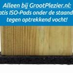 Gratis ISO-Pads tegen optrekkend vocht onder de staanders van speeltoestel Penthouse