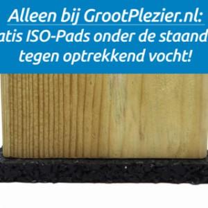 Speeltoestel Garden krijgt gratis ISO-Pads onder de staanders, tegen optrekkend vocht