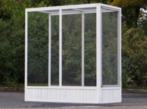 Aanbouwren Voliere Evy White-Grey 150x75x162cm