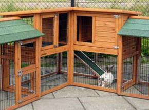 Plexiglas Isolatie Set voor konijnenhok Maurice met 2 extra rennen