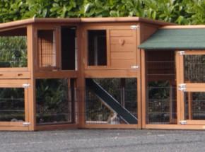 Plexiglas Isolatie Set voor konijnenhok Maurice met extra ren