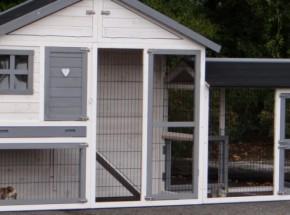 Plexiglas Isolatie Set voor konijnenhok Holiday Medium met extra uitloopren