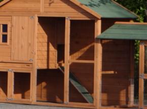 Plexiglas Isolatie Set voor konijnenhok Holiday Large met extra uitloopren