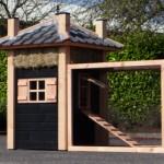 Groot luxe kippenhok van Douglashout
