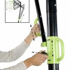 Basket EXIT Galaxy Black Portable | in hoogte verstelbare basketbal paal