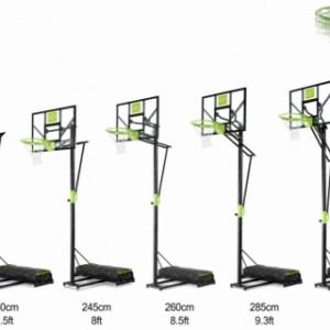 Basket EXIT Polestar Portable met dunkring | instelbaar in diverse hoogtes