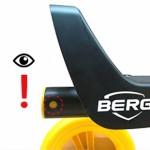 Veiligheidsvlag BERG skelter | let op het gat in het frame