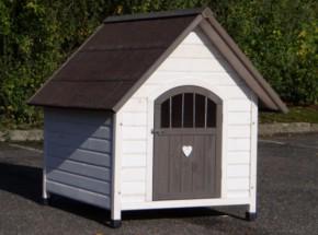 Hondenhok Private 4, houten hok voor honden als de Border Collie