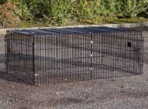 Konijnenren Maik | zwarte draadkooi | 123x80x47cm