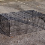 Konijnenren Maik   zwarte draadkooi   123x80x47cm